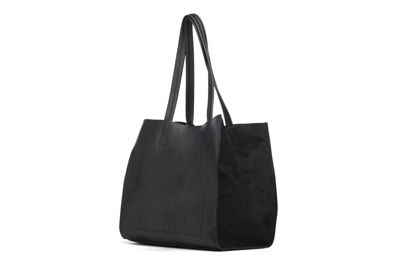 Handtassen Dorothy Perkins Suede Side Shopper Zwart links