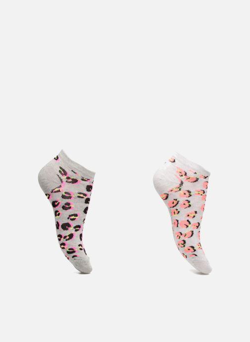 Chaussettes invisibles Femme Léopard Pack de 2 Cot