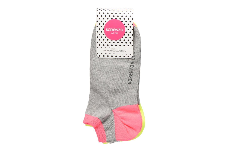 Sokken en panty's Sarenza Wear Chaussettes invisibles Femme fluo Pack de 3 Coton Grijs model