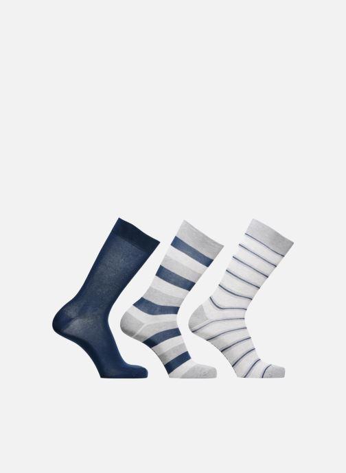 Chaussettes et collants Sarenza Wear Chaussettes Homme Pack de 3 rayures coton Bleu vue détail/paire