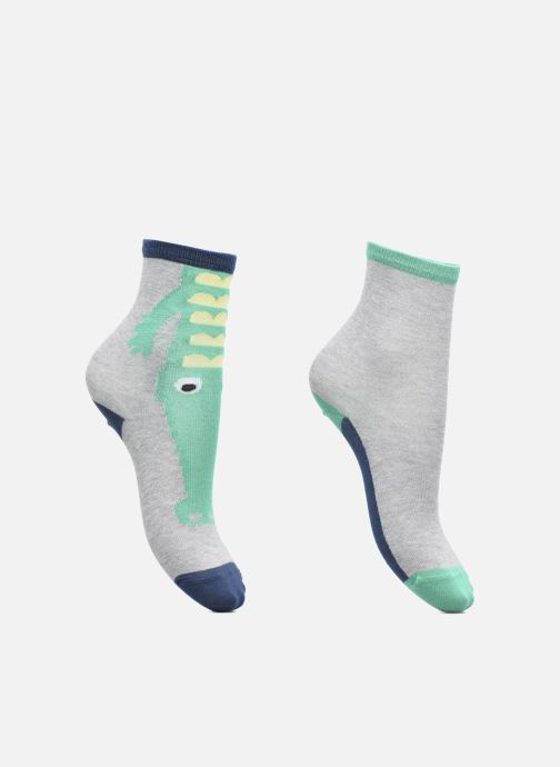 Sokken en panty's Sarenza Wear Chaussettes Garçon Pack de 2 Crocodile Grijs detail