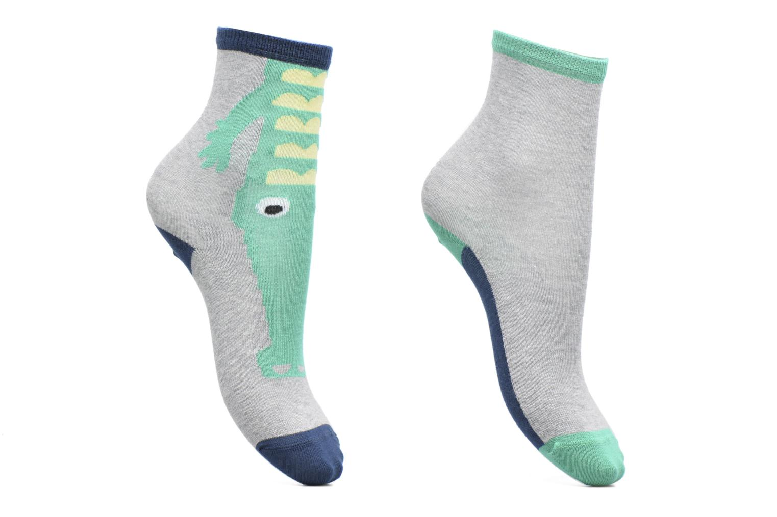 Socks & tights Sarenza Wear Chaussettes Garçon Pack de 2 Crocodile Grey detailed view/ Pair view