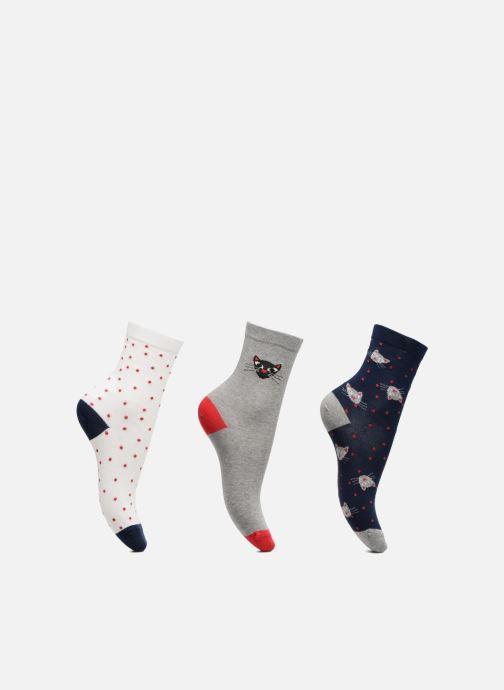 Chaussettes et collants Sarenza Wear Chaussettes Fille Pack de 3 Chat Gris vue détail/paire