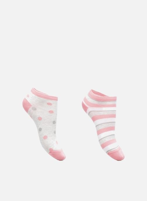 Socken & Strumpfhosen Sarenza Wear Chaussettes Fille Pack de 2 invisibles Lurex rosa detaillierte ansicht/modell
