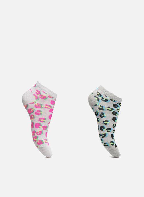 Chaussettes et collants Sarenza Wear Chaussettes Fille Pack de 2 invisibles Léopard Gris vue détail/paire