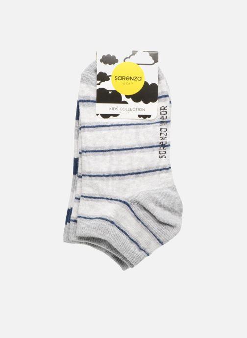 Chaussettes et collants Sarenza Wear Chaussettes Garçon Pack de 2 invisibles Rayures Bleu vue portées chaussures