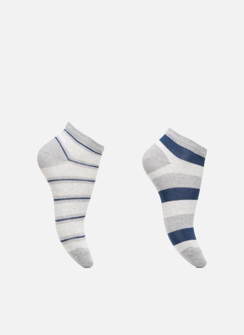 Chaussettes et collants Sarenza Wear Chaussettes Garçon Pack de 2 invisibles Rayures Bleu vue détail/paire