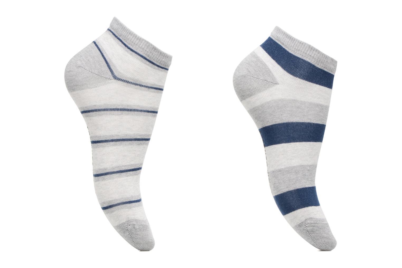 Socks & tights Sarenza Wear Chaussettes Garçon Pack de 2 invisibles Rayures Blue detailed view/ Pair view