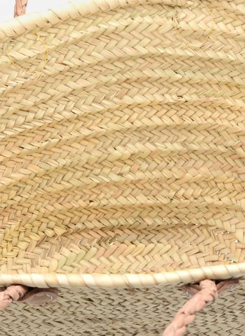 Bolsos de mano Etincelles Panier artisanal Vierge longes anses Beige vistra trasera