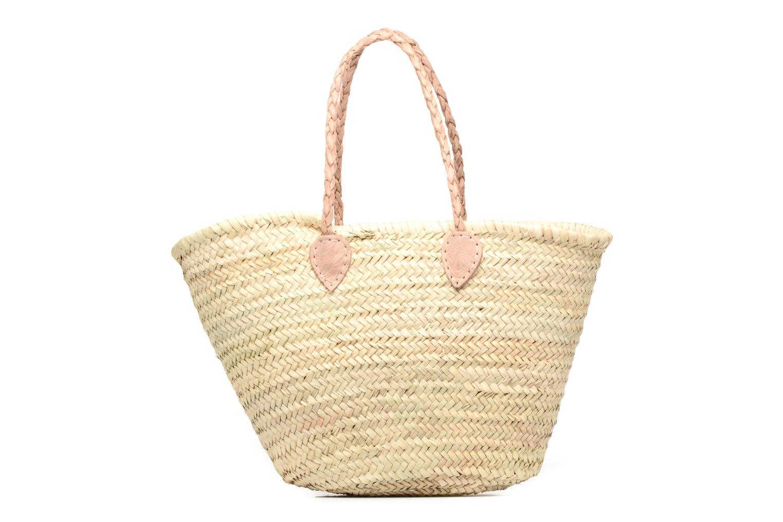 Handbags Etincelles Panier artisanal Vierge longes anses Beige front view