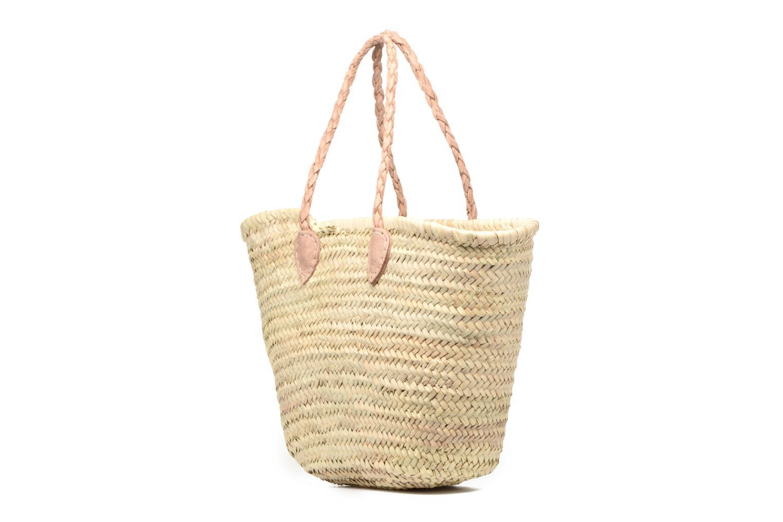Handtaschen Etincelles Panier artisanal Vierge longes anses beige ansicht von rechts