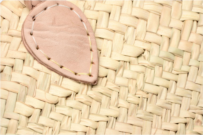 Handtaschen Etincelles Panier artisanal Vierge longes anses beige ansicht von links