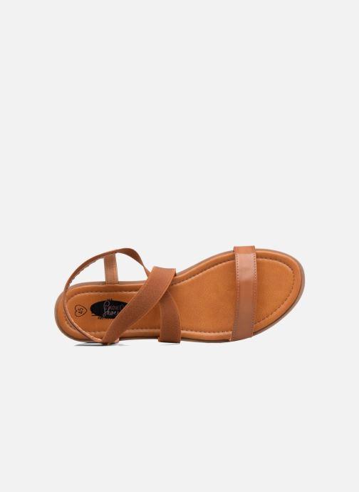 Sandales et nu-pieds I Love Shoes FAVA Size + Marron vue gauche