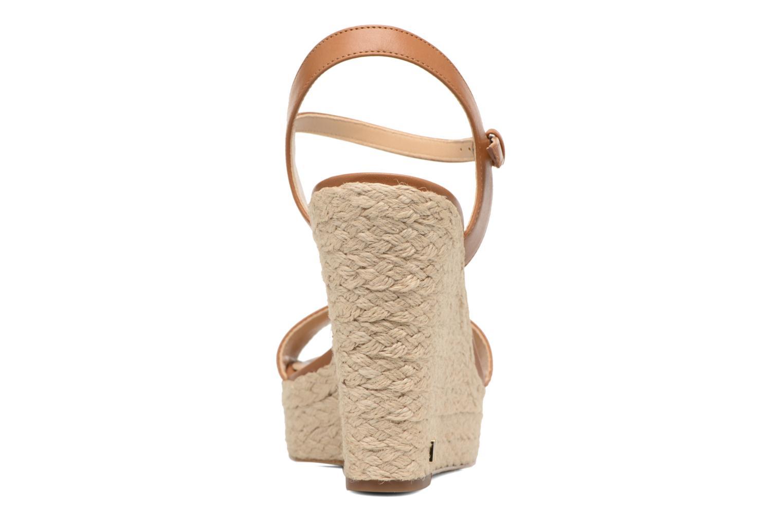 Sandali e scarpe aperte Michael Michael Kors Jill Wedge Marrone immagine destra
