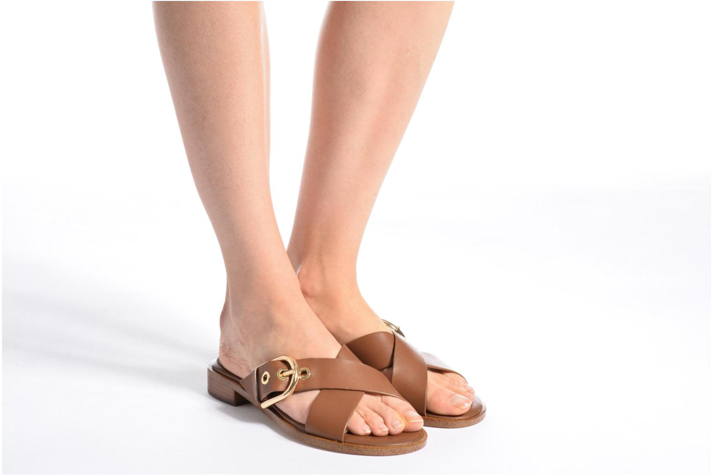 Clogs & Pantoletten Michael Michael Kors Cooper Sandal braun ansicht von unten / tasche getragen