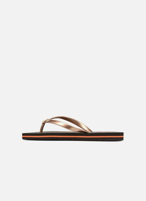 Tongs Michael Michael Kors Mk Flipflop Stripe Marron vue face