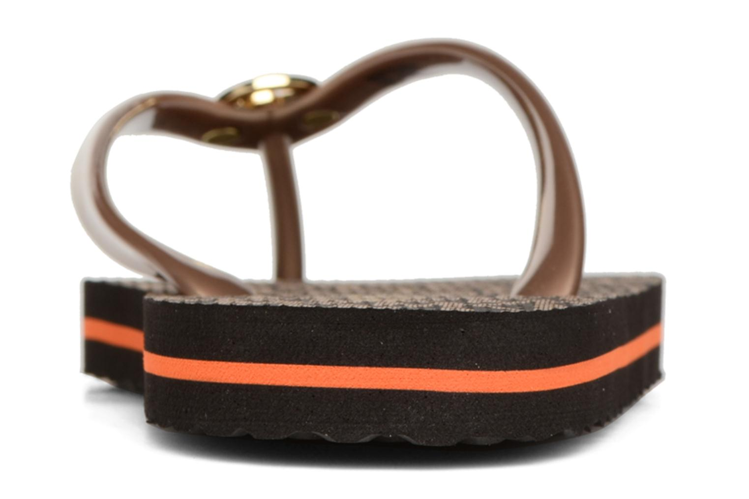 Flip flops Michael Michael Kors Mk Flipflop Stripe Brown view from the right