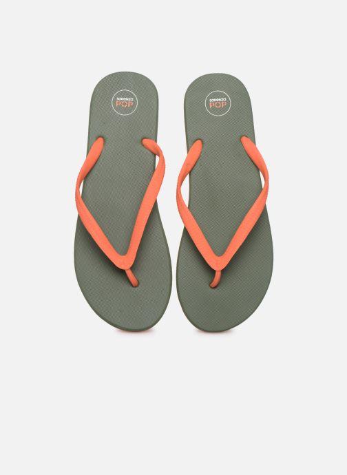 Chanclas SARENZA POP Diya M Tong  Flip Flop Naranja vista del modelo