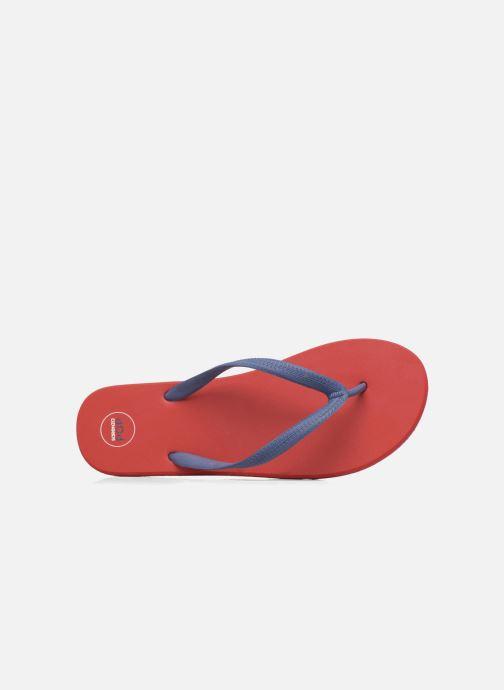 Chanclas SARENZA POP Diya M Tong  Flip Flop Rojo vista lateral izquierda