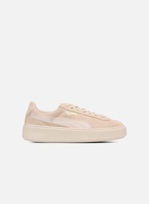 Sneakers Puma WNS SUEDE PLATF SATIN Beige achterkant