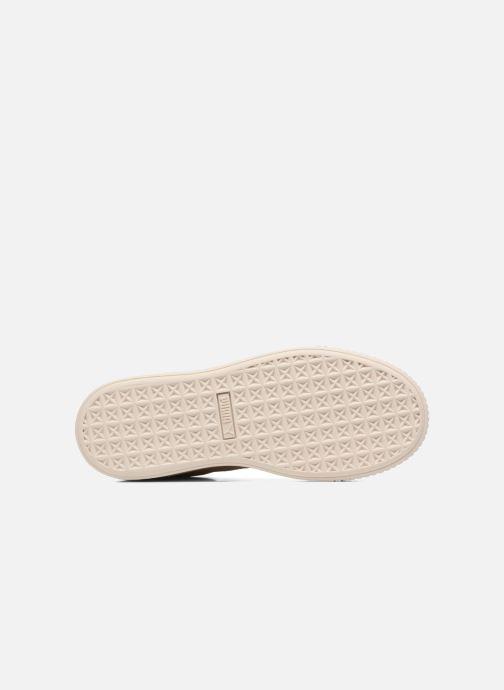 Sneakers Puma WNS SUEDE PLATF SATIN Beige boven