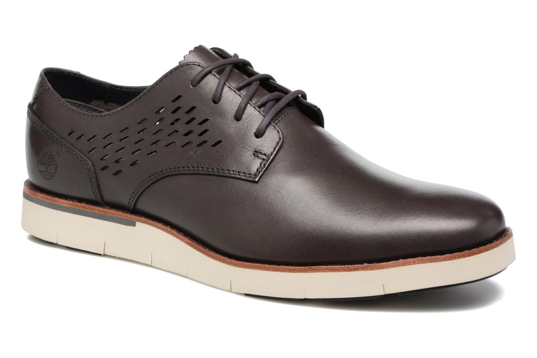 Chaussures à lacets Timberland Preston Hill Perf Bleu vue détail/paire