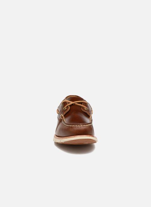 Snörade skor Timberland Tidelands 2 Eye Brun bild av skorna på