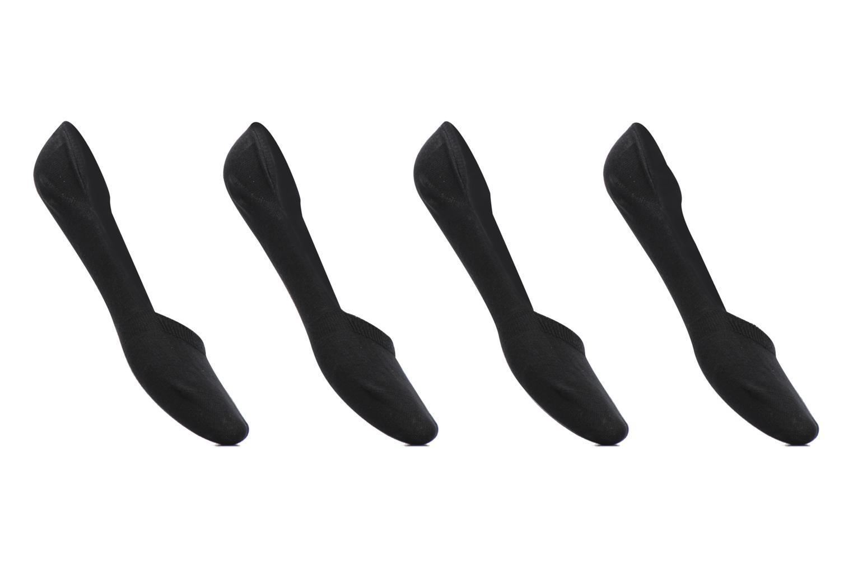 Strømper og tights Sarenza Wear Chaussettes Protèges - Pieds Femme : pack de 4 coton Sort detaljeret billede af skoene