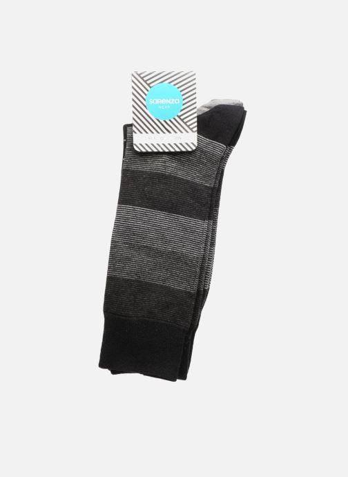 Chaussettes et collants Sarenza Wear Chaussettes Pack de 3 Homme : Rayures et Carreaux Coton Gris vue portées chaussures