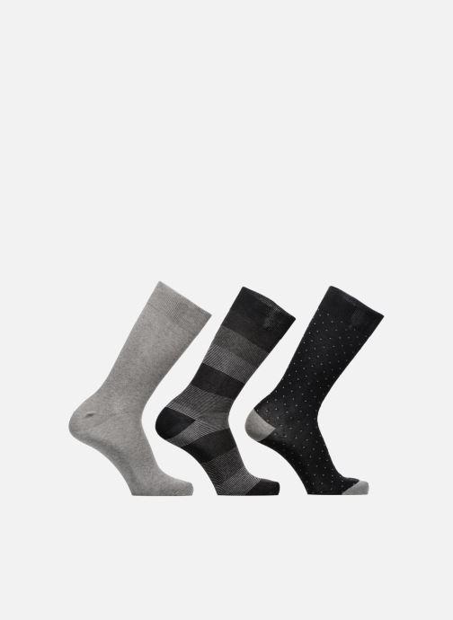 Chaussettes et collants Sarenza Wear Chaussettes Pack de 3 Homme : Rayures et Carreaux Coton Gris vue détail/paire