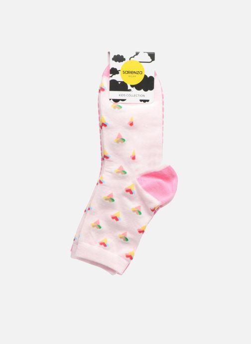 Chaussettes et collants Sarenza Wear Chaussettes Pack de 2 Fille : Glaçes Coton Rose vue portées chaussures