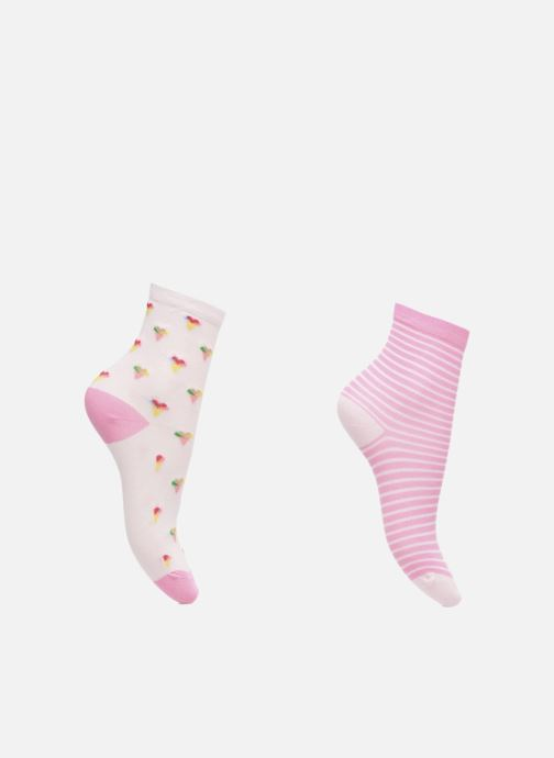 Chaussettes et collants Sarenza Wear Chaussettes Pack de 2 Fille : Glaçes Coton Rose vue détail/paire