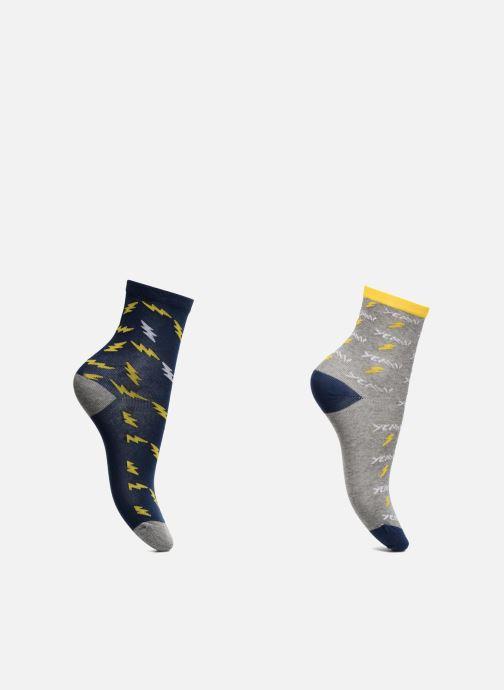 Socken & Strumpfhosen Sarenza Wear Chaussettes Pack de 2 garçon : Eclairs Coton blau detaillierte ansicht/modell