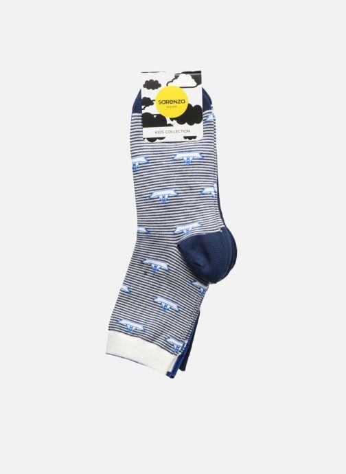 Chaussettes et collants Sarenza Wear Chaussettes Pack de 3 garçon : Marins Coton Bleu vue portées chaussures