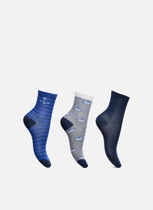 Chaussettes et collants Sarenza Wear Chaussettes Pack de 3 garçon : Marins Coton Bleu vue détail/paire