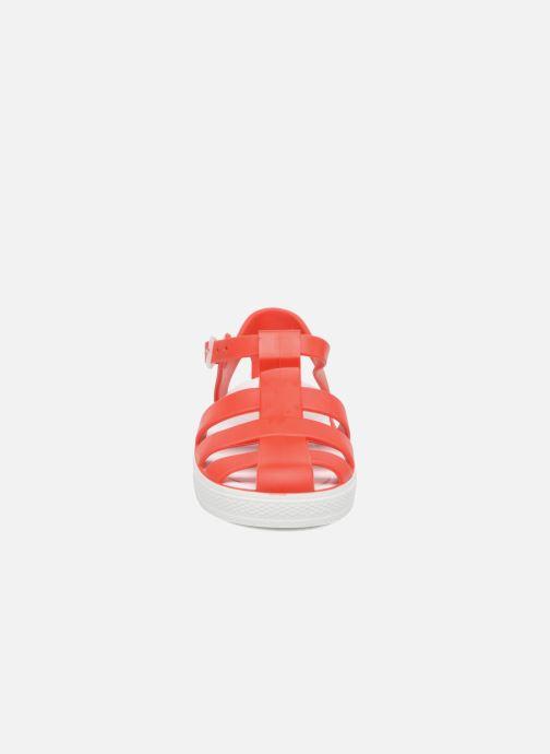 Sandales et nu-pieds SARENZA POP Romy Rouge vue portées chaussures