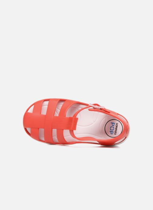 Sandales et nu-pieds SARENZA POP Romy Rouge vue gauche