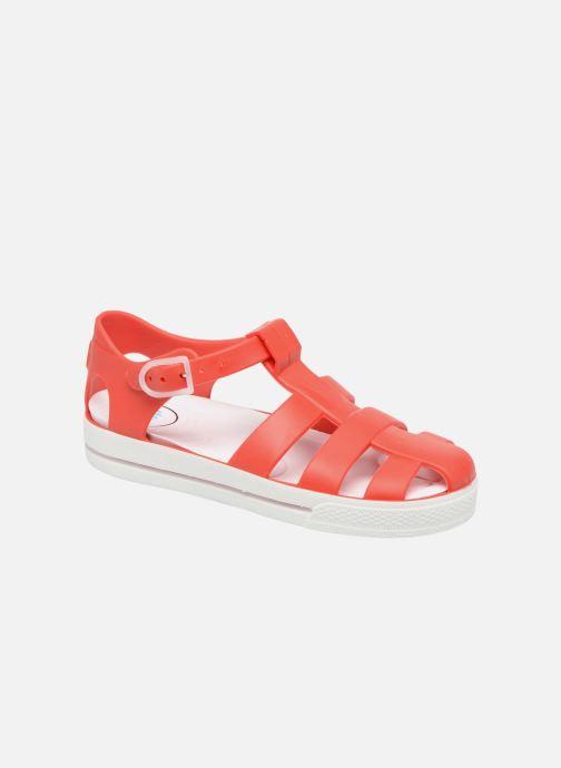 Sandales et nu-pieds SARENZA POP Romy Rouge vue détail/paire