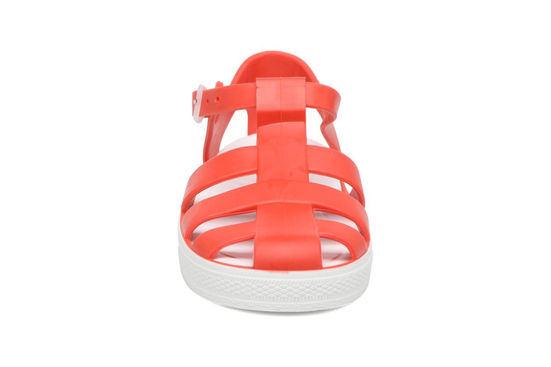 Sandalen SARENZA POP Romy rot schuhe getragen