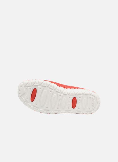 Sandalen SARENZA POP Raffi rot ansicht von oben