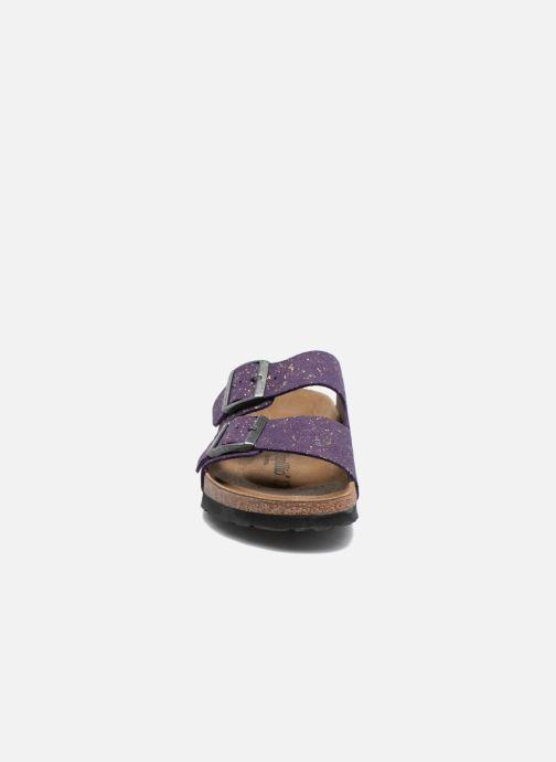 Zoccoli Papillio ARIZONA cuir nubuck Viola modello indossato