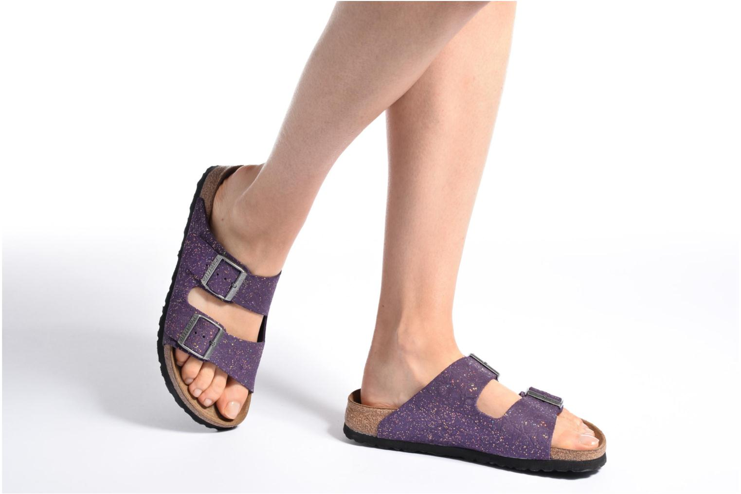 Mules & clogs Papillio ARIZONA cuir nubuck Purple view from underneath / model view