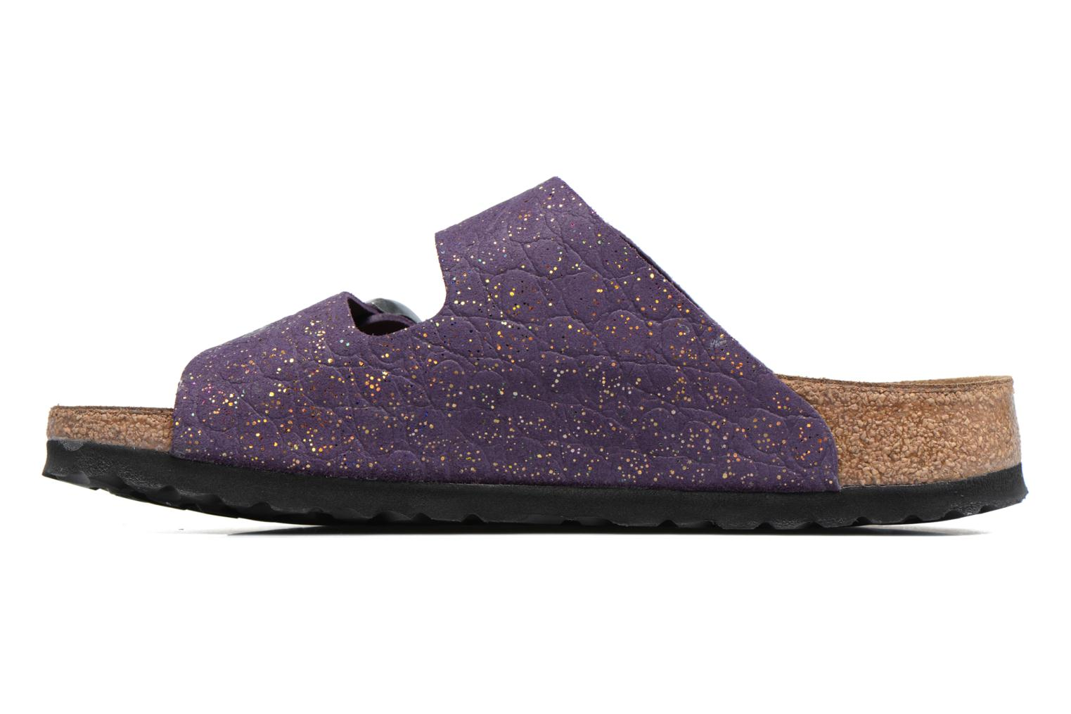 Mules & clogs Papillio ARIZONA cuir nubuck Purple front view