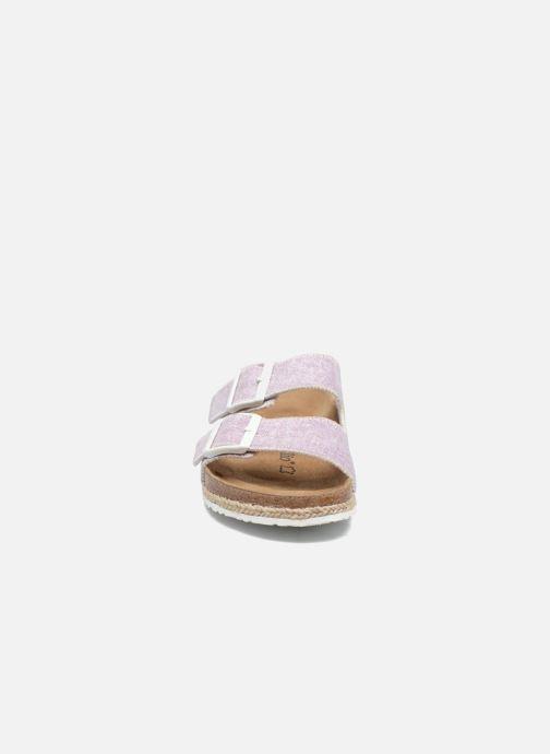 Mules et sabots Papillio Arizona textile Rose vue portées chaussures
