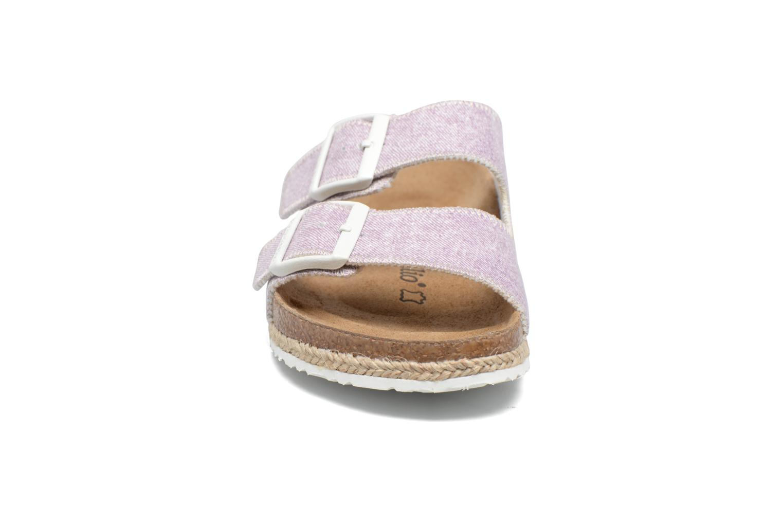 Clogs & Pantoletten Papillio Arizona textile rosa schuhe getragen