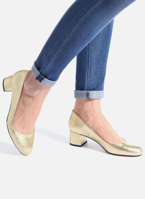 High heels Georgia Rose Slico Beige view from underneath / model view