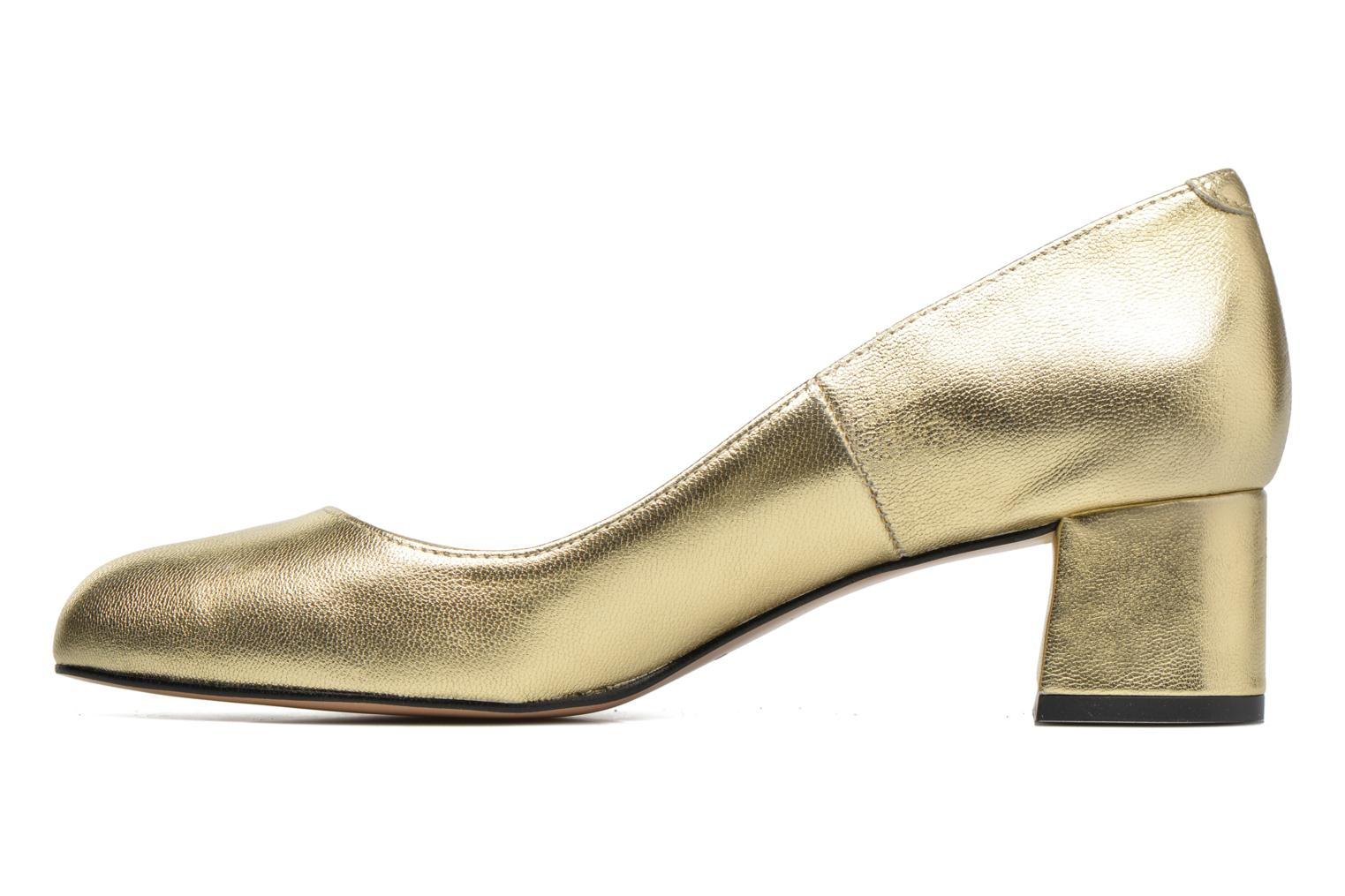 High heels Georgia Rose Slico Bronze and Gold front view