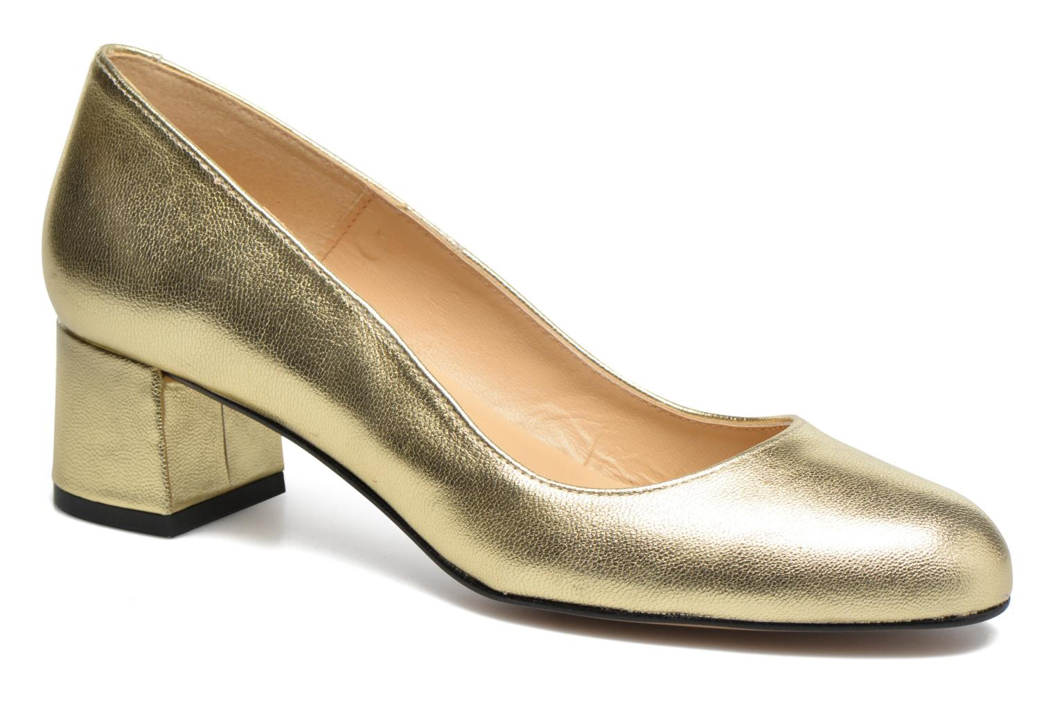 High heels Georgia Rose Slico Bronze and Gold detailed view/ Pair view
