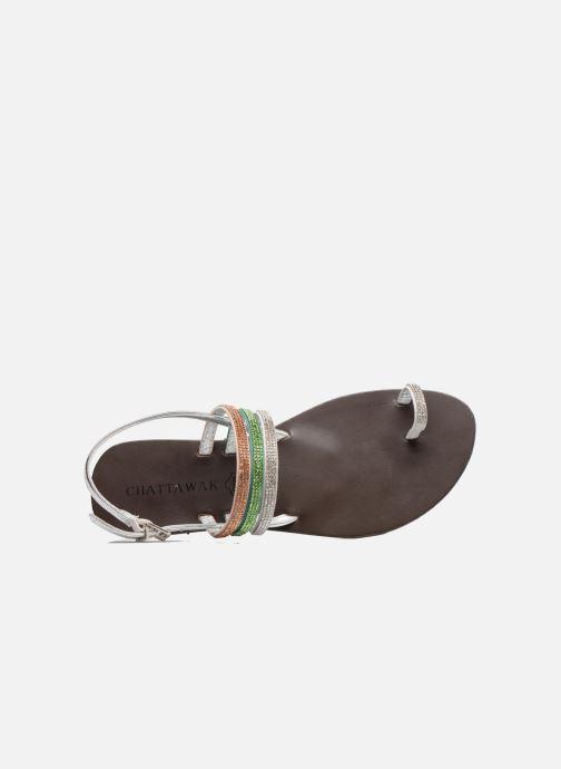 Sandali e scarpe aperte Chattawak Nina Verde immagine sinistra