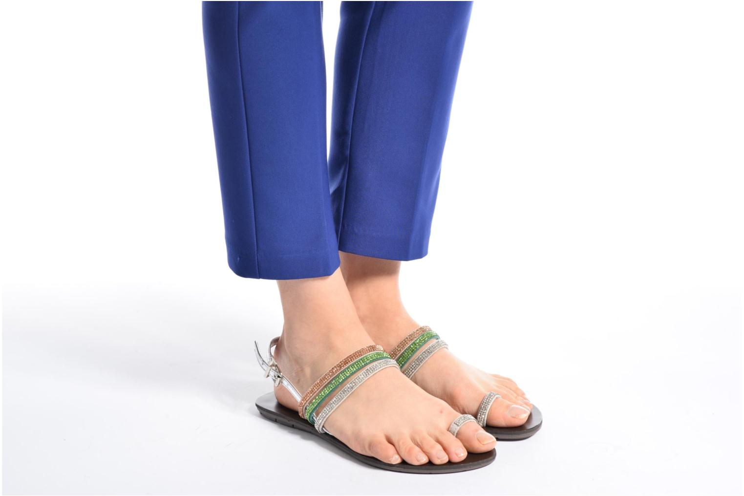 Sandals Chattawak Nina Blue view from underneath / model view